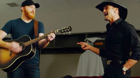Country Star Joins Tim McGraw Backstage For Creative Cover Of George Strait's Debut Single | Country Music Videos