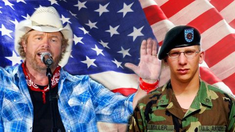 """Toby Keith Surprises Prisoner Of War Hero, Patrick Miller With """"Courtesy Of The Red, White And Blue (The Angry American)"""" 