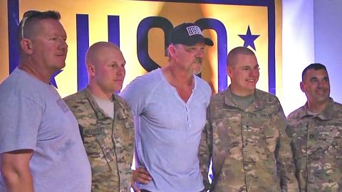 American Troops Get A Much-Needed Taste Of Home Thanks To Trace Adkins | Country Music Videos