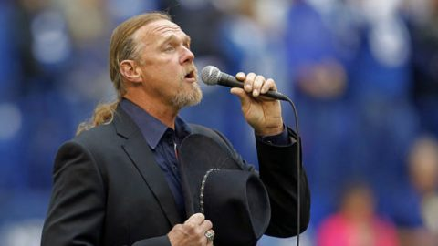 Trace Adkins Honors Military With Moving National Anthem Performance | Country Music Videos
