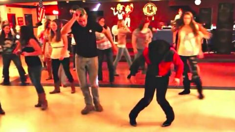 Dueling Line Dancers Have Epic Battle Over The 'Watermelon Crawl' | Country Music Videos