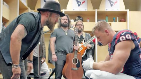 Zac Brown Band Gets J.J. Watt Pumped For Game Day | Country Music Videos