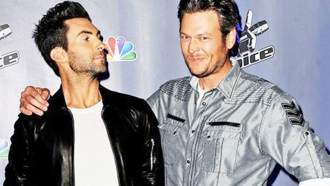 See The Photo Of Young Blake Shelton Adam Levine Wants To Punch 'So Hard' | Country Music Videos