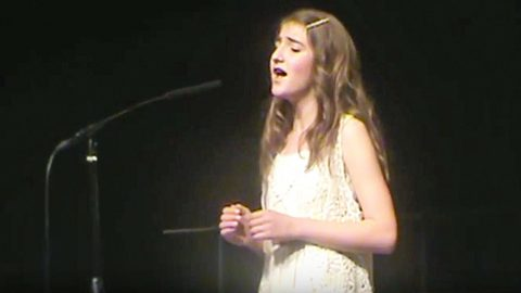 12-Year-Old Gives Heavenly Rendition To Heartbreaking Ballad 'Concrete Angel' | Country Music Videos