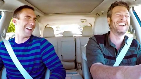 Blake Shelton & Adam Levine Can't Stop Laughing In Hilarious Commute Outtakes | Country Music Videos