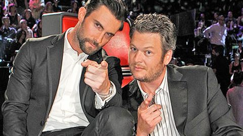 Top 7 GIFs That Define Blake Shelton And Adam Levine's Epic Bromance | Country Music Videos