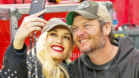 Blake Shelton & Gwen Stefani Share Romantic Photo Hours Before Much-Anticipated Duet | Country Music Videos
