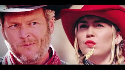 Blake Shelton And Miley Cyrus Have Wild West Showdown To Find Out Who Is More Country | Country Music Videos