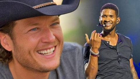 "Usher Covers Blake Shelton's ""Neon Light"" | Country Music Videos"