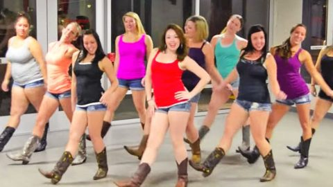 Boot Boogie Babes Groove To Major Country Hit In Smokin' Hot Line Dance   Country Music Videos