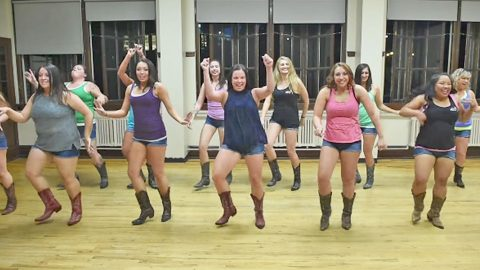 We Can't Stop Smiling At The Boot Boogie Babes' Fun Routine To Infectious Country Song | Country Music Videos
