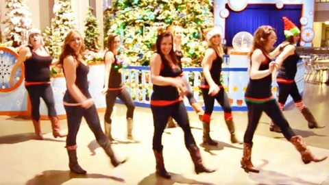 Boot Boogie Babes Kick The Snow Up To Luke Bryan's 'Run Run Rudolph' | Country Music Videos