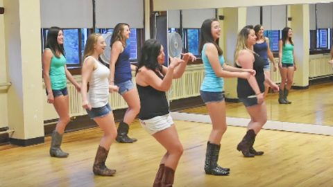 The Boot Girls Tear Up The Dance Floor With Sexy 'Footloose' Line Dance | Country Music Videos