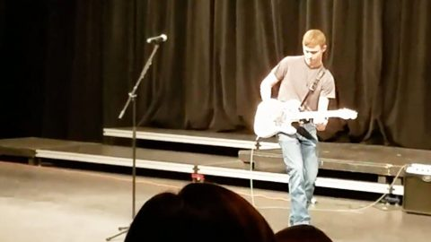 Kid Wins Talent Show With Kick Ass Brad Paisley Performance | Country Music Videos
