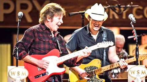 Rock Legend John Fogerty Joins Brad Paisley For Electrifying 'Proud Mary' Performance | Country Music Videos