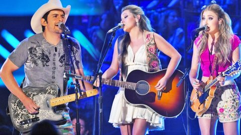 Maddie & Tae Join Brad Paisley On Stage For A Haunting Performance Of 'Whiskey Lullaby'   Country Music Videos