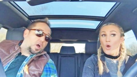 Jason Aldean & Wife Debut First 2017 Carpool Karaoke, And It's Hysterical   Country Music Videos