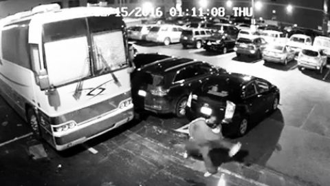 Country Duo Releases Chilling Footage Of Man Attacking Tour Bus With Bricks | Country Music Videos