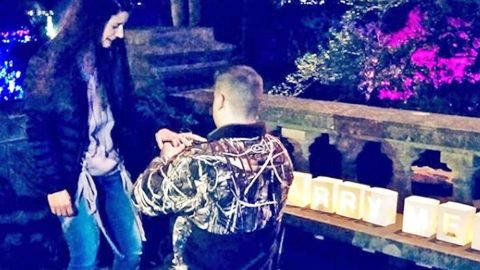 Son Of Country Music Royalty Makes Mama Proud With Camo-Clad Proposal | Country Music Videos