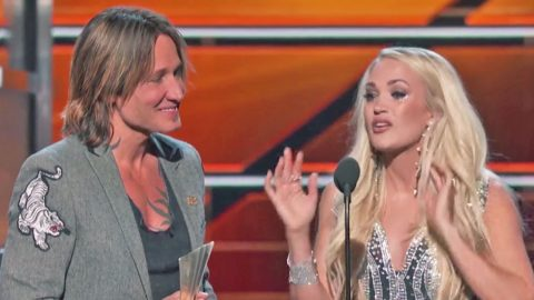 Carrie Underwood Moved To Tears After ACM Award Win | Country Music Videos