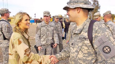 Carrie Underwood Gives Back To Military Families | Country Music Videos