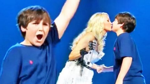 Carrie Underwood Brings Young Fan Onstage For First Kiss   Country Music Videos