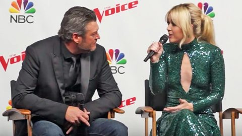 'Voice' Champ & Blake Shelton Discuss Her Leaving Team Miley | Country Music Videos