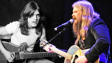 Chris Stapleton Pays Tribute To The Late Malcolm Young With Somber AC/DC Cover | Country Music Videos