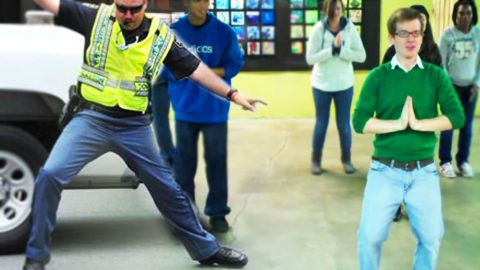 What Happens When A Cop and Some Christians Line Dance? | Country Music Videos
