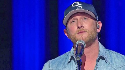 Cole Swindell Fights Tears Performing Song Written For Deceased Father   Country Music Videos