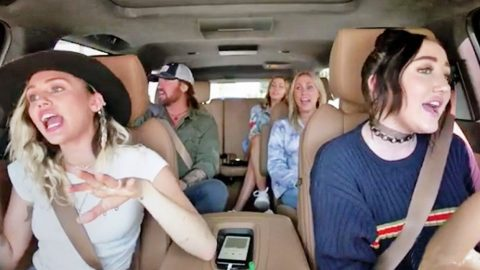 Cyrus Family Dance & Sing Along To Their Biggest Hits In Epic Carpool Karaoke | Country Music Videos
