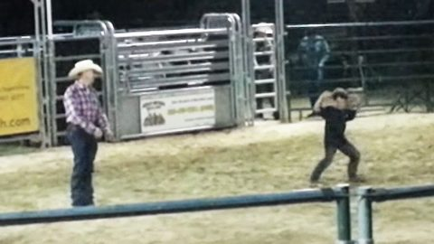 Little Boy & Old Cowboy Take To Rodeo Arena For Epically Hysterical Dance Off | Country Music Videos