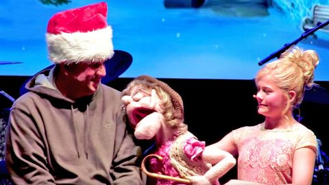 Darci Lynne's Feisty Puppet Serenades Audience Member With Flirty 'Santa Baby' | Country Music Videos