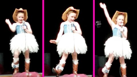 7-Year-Old With Larger Than Life Personality Sings And Dances To 'Delta Dawn' | Country Music Videos
