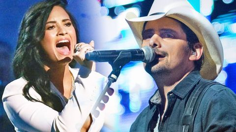 Pop Star Demi Lovato Goes Country In Brad Paisley's Sexy New Single 'Without A Fight' | Country Music Videos