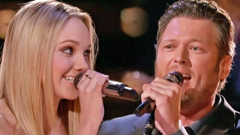Blake Shelton & Danielle Bradbery Dazzle In Duet Of 'Timber, I'm Falling In Love' | Country Music Videos