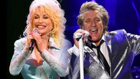 Dolly Parton & Rod Stewart – Baby It's Cold Outside   Country Music Videos