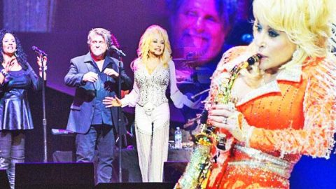 Dolly Parton Performs Hilarious Benny Hill Theme on Sax! (WATCH) | Country Music Videos