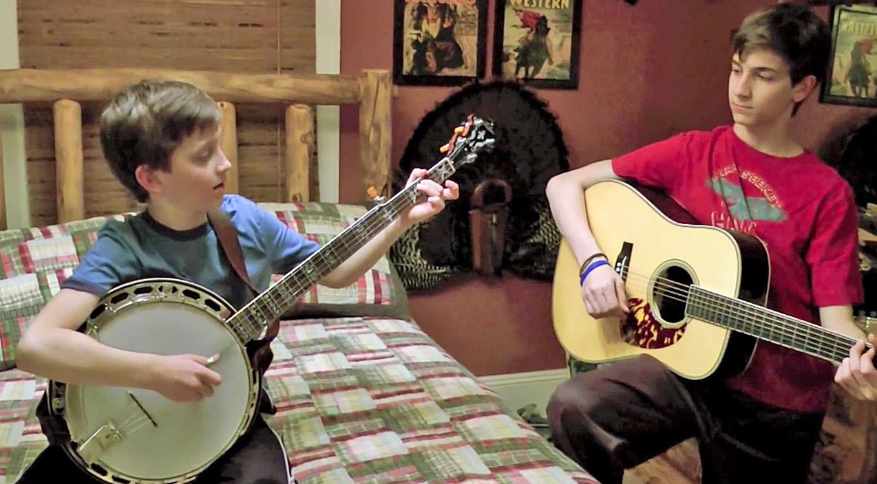 9 year old boy will blow your mind with top notch dueling banjos against brother country rebel. Black Bedroom Furniture Sets. Home Design Ideas