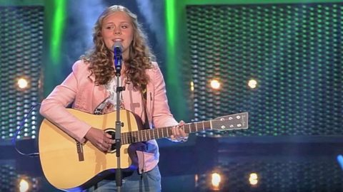 Young Dutch Girl Ignites 'The Voice' Stage With Feisty
