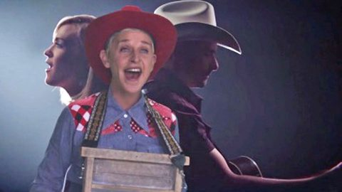 Ellen DeGeneres Gives Brad Paisley & Carrie Underwood's 'Forever Country' Duet A Funny Twist | Country Music Videos
