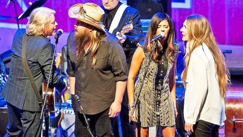 Chris Stapleton & His Wife Morgane Join Little Big Town For Intoxicating 'Elvira' | Country Music Videos