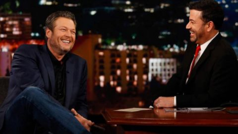 """Jimmy Kimmel Embarrassed Blake Shelton Revealing That He Watches The """"Golden Girls"""" TV Show 