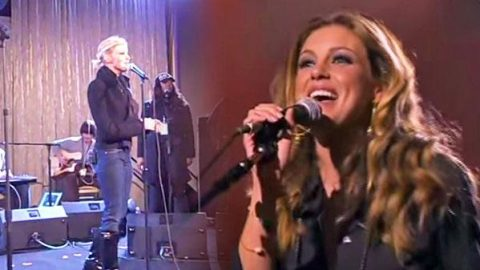 """Faith Hill – Rehearsing """"The Lucky One"""" (VIDEO) 