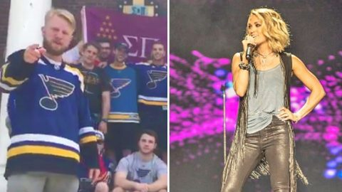 Missouri Fraternity Challenges Carrie Underwood To High Stakes Hockey Bet | Country Music Videos