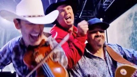 Garth Brooks Opens Southeastern Championship Game With Blazing New Song 'Pure Adrenaline' | Country Music Videos