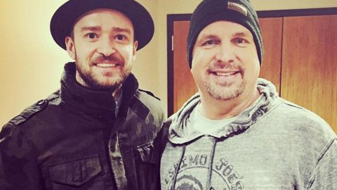 Garth Brooks Gives Justin Timberlake Birthday Surprise He'll Never Forget | Country Music Videos