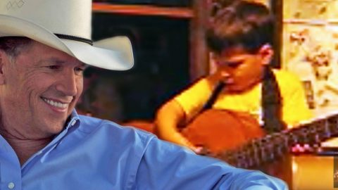 Father & Son Get 'Strait' Up Adorable In 'Amarillo By Morning' Duet | Country Music Videos