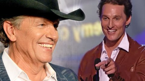 Matthew McConaughey Jokes About Designing George Strait's Boots! (WATCH)   Country Music Videos