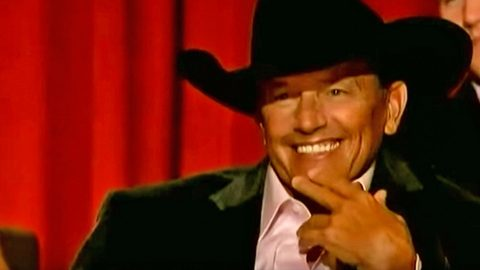 George Strait Can't Stop Grinning When Blonde Bombshell Serenades Him With His Own Song   Country Music Videos
